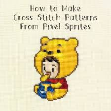 How To Make A Cross Stitch Pattern Delectable I Am Luna Sol How To Make Cross Stitch Patterns From Pixel Sprites