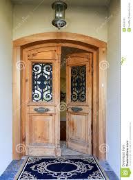 open house door. Luxury House Entrance Porch With Open Door