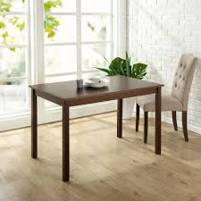 zinus espresso wood dining table