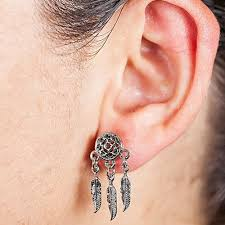 Dream Catcher Tunnels FreshTrends Dreamcatcher Surgical Steel Dangle Tunnel Plugs Pair 16