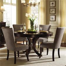 ... Dining Chairs, Appealing Dark Brown Round Modern Wooden Upholstered  Dining Room Chairs Stained Ideas: ...