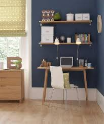 office room ideas for home. corner home office space with navy blue wall room ideas for