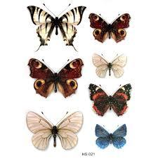 Senarai Harga 3pcs Cute Butterfly Waterproof Temporary Tattoos Men