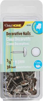 decorative nail heads for furniture. Dritz 0.38\\u0022 Decor Upholstery Tacks 36pcs Nickel Decorative Nail Heads For Furniture