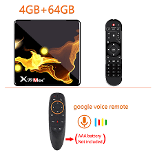 Wholesale X99 Max+ Tv Box S905x3 Chip Dual Frequency Wifi Uad Core 4gb Ram  32gb 64gb Wifismart Tv Box 4+64G_ UK plug+G10S remote control From China