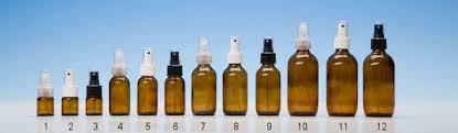 glass amber bottles with 24mm mist sprays