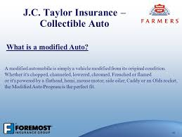 j c taylor insurance collectible auto