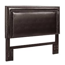 amazoncom  dorel living faux leather headboard with nail heads