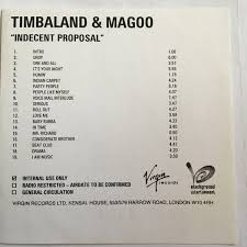 Party Proposal Extraordinary Timbaland Magoo Indecent Proposal CD Album At Discogs
