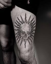 Sun And Skull Tattoo Tattoogridnet