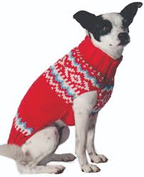 Red Nordic Wool Dog Sweater