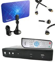 tv converter box. amazon.com: iview hdtv 3500stb dtv converter box bundle + flat digital indoor tv antenna aurum hdmi cable and remote control: electronics r