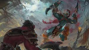 huskar vs axe dota 2 art wallpaper 4259