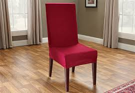 photo of cotton duck short dining chair cover