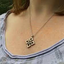 unique small statement necklace simple weave pendant intricate 3d design