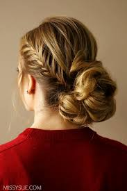 Braided Updo Hairstyles 89 Inspiration Fishtail Accent Braid Updo MISSY SUE