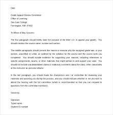 Termination Appeal Letter Academic Dismissal Unfair Template