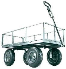 yard cart wagon garden tires home depot carts gorilla utility