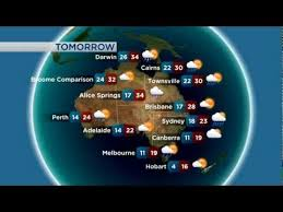 Abc World Weather Fly With Australian Synoptic And Satellite