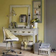 home officevintage office decor rustic. Home Office : Country Style With Yellown Walls And Vintage Framed Pertaining To Officevintage Decor Rustic W