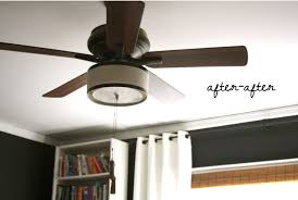 drum shade for ceiling fan a great step by on how to pretty up diy