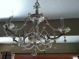 vintage shabby chic chandelier
