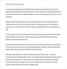 Letter Of Recommendation Teacher Letter Of Recommendation For Teacher Colleague Teacher