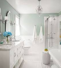 white bathroom color ideas. seafoam + cottage white silver i love this wall color! bathroom color ideas pinterest