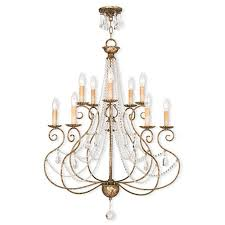 livex lighting isabella 10 light european bronze chandelier