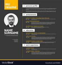 Minimalist Cv Resume Template Yellow Black