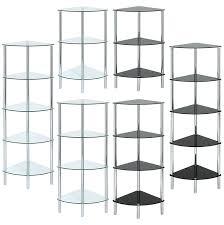 bathroom corner shelving unit hartleys curved shelf available black clear white wooden argos vintage natural wood