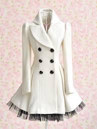 hot women white trench coat jacket dress parka slim fit peacoat outwear nk149
