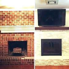 replace brick fireplace with stone refacing brick fireplace with stone limited can you install stone veneer replace
