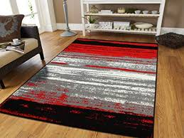 Image Colour Amazon New Red 5x7 Rugs For Living Room Under 50 Red Black Grey White 5x8 Rugs Western Style Lines 5x7 Abstract Carpet 5x8 Area Rug
