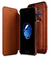 melkco premium leather case for apple iphone 7 plus face cover back slot tan