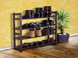 Mahogany Shoe Rack for Entryway