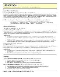 Skills For Public Relations Resume Pr Resume 2011 Public Relations