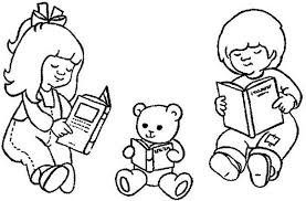 Small Picture Child Reading Coloring Page Coloring Pages Ideas