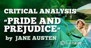 jane austen s pride and prejudice critical analysis bull littlehelpz