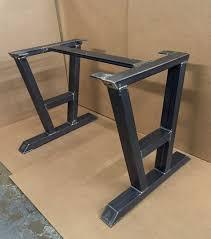 modern industrial furniture. squarerectangular modern dining table legs industrial set of 2 steel von metalandwooddesign furniture s