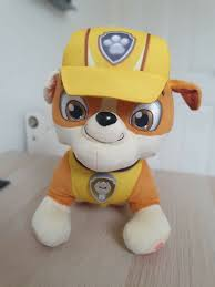 Paw Patrol Deluxe Lights And Sounds Plush Real Talking Rubble Paw Patrol Deluxe Lights And Sounds Plush Real Talking Rubble