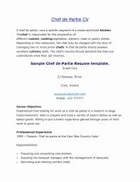 Chef Resume Objective For Study Resumes Image Examples Resume