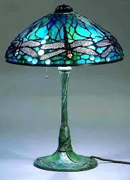 dragonfly stained glass lamp shade shades dale antique style double lit