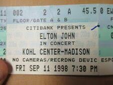 Madison Wi Concert Tickets Kohl Center For Sale Ebay