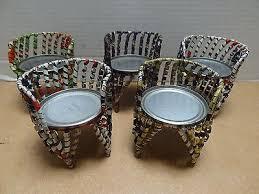 tin furniture. handmade primitive folk art doll furniture miniature chairs old tin can lot of 5