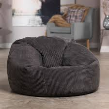 luxury cord bean bag x large bean bag chair charcoal grey