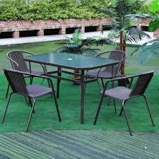 2x allibert wicker rattan dining chairs