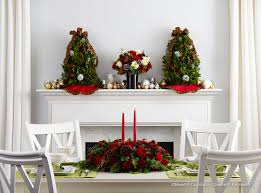 centerpiece and floral bouquet for Christmas table
