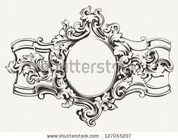 antique picture frames vector. Antique Ornate Frame Engraving Picture Frames Vector