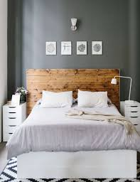 grey bedroom wall wood panel walls headboard